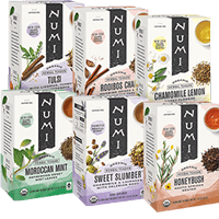 This is the picture of Relaxing Herbal Tea Sampler under the category NumiTeaStore@Teabag@Assortment in Numi Organic Tea. Click to add to cart.